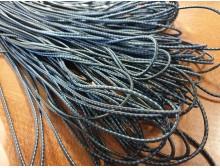 Elastic cord, color: black-darkblue, diameter: 2.5mm, 1 roll: 100m