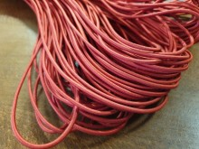 Elastic cord, color: red, diameter: 2.5mm, 1 roll: 50m