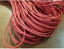 Elastic cord, color: red, diameter: 2.5mm, 1 roll: 100m