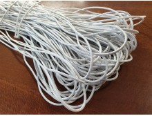 Elastic cord, color: white, diameter: 2.5mm, 1 roll: 100m