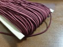 Elastic cord, color: claret, diameter: 2.5mm, 1 roll: 50m