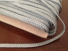 Bocskai cord, color: silver, width: 6mm, 1 roll: 50m, unitprice: 104,0 Ft/meter*