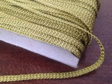 Bocskai cord, color: gold, width: 6mm, 1 roll: 50m, unitprice: 104,0 Ft/meter*