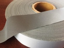 Reflective ribbon, color: silver, width: 30mm, 1 roll: 10m, unitprice: 117,0 Ft/meter*