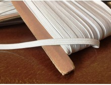 Elastic ribbon (narrow), color: white, width: 4.5mm, 1 roll: 50m