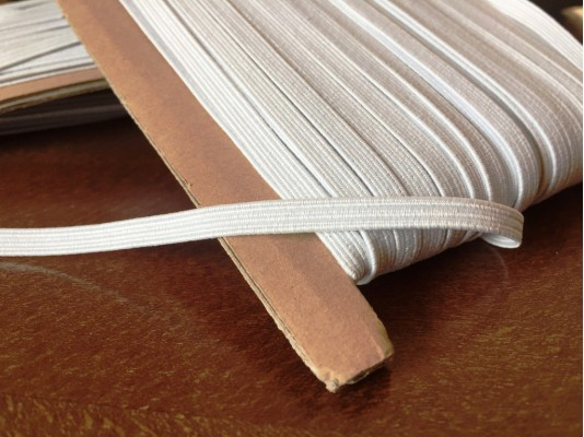 Elastic ribbon (narrow), color: white, width: 4.5mm, 1 roll: 50m