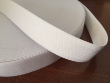 Elastic ribbon, color: white, width: 25mm, 1 roll: 40m, unitprice: 32,0 Ft/meter*