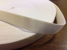Elastic ribbon, color: white, width: 20mm, 1 roll: 40m, unitprice: 28,0 Ft/meter*