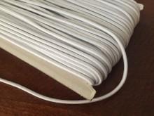 Gumizsinór, szín: fehér, átmérő: 2.5mm, 1 tekercs: 50m, egységár: 24,0 Ft/méter*