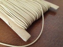 Elastic cord, color: beige, diameter: 1.5mm, 1 roll: 50m, unitprice: 26,0 Ft/meter*