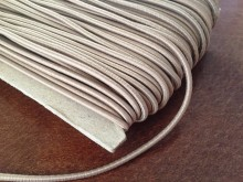 Elastic cord, color: beige, diameter: 2.5mm, 1 roll: 50m, unitprice: 24,0 Ft/meter*