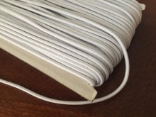 Elastic cord, color: white, diameter: 2.5mm, 1 roll: 50m