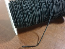 Elastic cord, color: black, diameter: 1.7mm, 1 roll: 25m