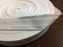Twill ribbon, color: white, width: 30mm, 1 roll: 50m, unitprice: 42,0 Ft/meter*