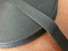 Twill ribbon, color: black, width: 20mm, 1 roll: 45m, unitprice: 29,0 Ft/meter*