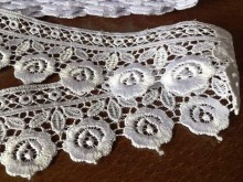 Lace, color: white, width: 50mm, 1 roll: 9y, unitprice: 190,0 Ft/yard*