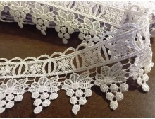 Lace, color: white, width: 60mm, 1 roll: 9y, unitprice: 213,0 Ft/yard*