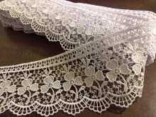 Lace, color: white, width: 75mm, 1 roll: 9y, unitprice: 259,0 Ft/yard*