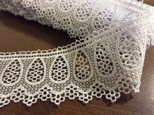 Lace, color: white, width: 70mm, 1 roll: 9y, unitprice: 259,0 Ft/yard*