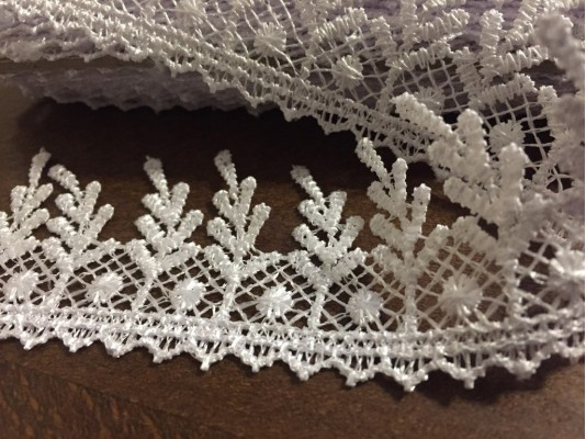 Lace, color: white, width: 40mm, 1 roll: 9y, unitprice: 98,0 Ft/yard*
