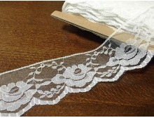 Synthetic lace, color: white, width: 60mm, 1 roll: 25m, unitprice: 78,0 Ft/meter*