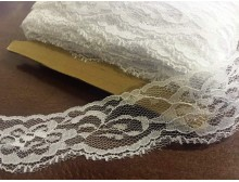 Synthetic lace, color: white, width: 40mm, 1 roll: 25m, unitprice: 72,0 Ft/meter*