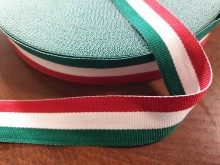 National ribbon, color: hungarian nation, width: 25mm, 1 roll: 50m, unitprice: 33,0 Ft/meter*