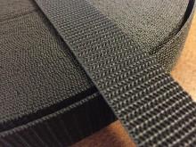 PP strap, color: black, width: 25mm, 1 roll: 50m, unitprice: 25,0 Ft/meter*