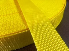 PP strap, color: yellow sun, width: 30mm, 1 roll: 50m, unitprice: 49,0 Ft/meter*