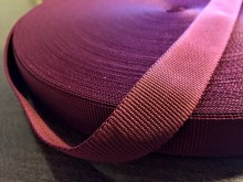 Rips ribbon, color: claret, width: 22mm, 1 roll: 50m, unitprice: 36,0 Ft/meter*