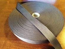Ripsz szalag, szín: sötétszürke, szélesség: 20mm, 1 tekercs: 50m, egységár: 33,0 Ft/méter*