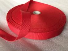 Ripsz szalag, szín: piros, szélesség: 20mm, 1 tekercs: 50m, egységár: 33,0 Ft/méter*