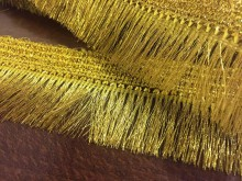 Fringe, color: gold, width: 55mm, 1 roll: 20y, unitprice: 119,0 Ft/yard*
