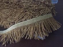 Fringe, color: gold, width: 50mm, 1 roll: 25m, unitprice: 313,0 Ft/meter*