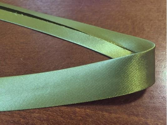 Satin bias binding, color: khaky green, width: 20mm, 1 roll: 25m, unitprice: 51,0 Ft/meter*