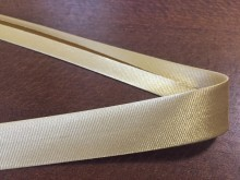 Satin bias binding, color: beige, width: 20mm, 1 roll: 25m, unitprice: 51,0 Ft/meter*