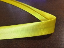 Satin bias binding, color: lemon yellow, width: 20mm, 1 roll: 25m, unitprice: 51,0 Ft/meter*