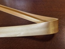 Satin bias binding, color: gold, width: 20mm, 1 roll: 25m, unitprice: 51,0 Ft/meter*