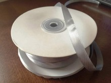 Satin ribbon, color: silver, width: 10mm, 1 roll: 100m, unitprice: 17,0 Ft/meter*