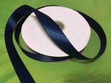 Satin ribbon, color: darkblue, width: 20mm, 1 roll: 50m, unitprice: 34,0 Ft/meter*