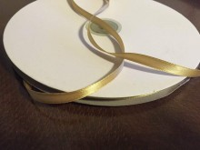 Satin ribbon, color: gold, width: 6mm, 1 roll: 100m, unitprice: 12,0 Ft/meter*