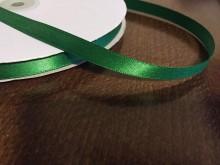 Szatén szalag, szín: zöld, szélesség: 10mm, 1 tekercs: 100m, egységár: 17,0 Ft/méter*