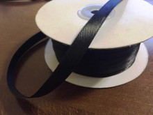 Satin ribbon, color: black, width: 10mm, 1 roll: 100m, unitprice: 17,0 Ft/meter*