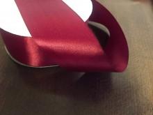 Satin ribbon, color: claret, width: 50mm, 1 roll: 50m, unitprice: 85,0 Ft/meter*