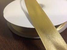 Szatén szalag, szín: arany, szélesség: 20mm, 1 tekercs: 50m, egységár: 30,0 Ft/méter*